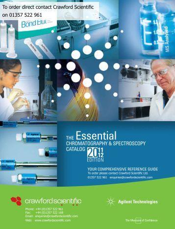 Agilent Technologies Catalogue - Crawford Scientific Ltd.