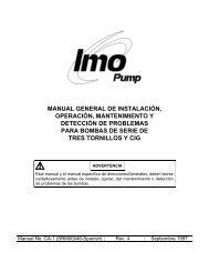 manual general de instalación, operación, mantenimiento - Imo Pump