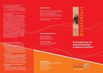 Berufsstart - ACCESS Integrationsbegleitung