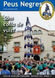 Peus Negres 17 - Colla de Castellers d'Esplugues