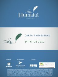 CARTA TRIMESTRAL 1º TRI DE 2012 - Humaitá