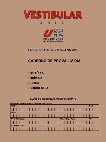 CADERNO DE PROVA - 3º DIA - Globo.com