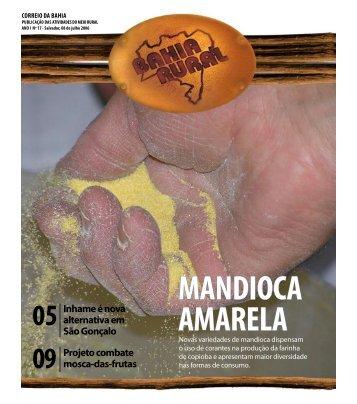 Inhame é nova alternativa em São Gonçalo Projeto ... - Moscamed