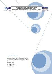 JOGOS OLÍMPICOS Material Didático (OAC), apresentado como ...