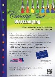 am 23. November 2012 in Paderborn von 11.00 ... - Maler-Einkauf eG