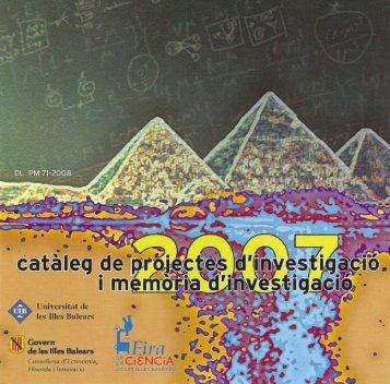activitats del departament - Universitat de les Illes Balears