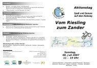 Vom Riesling zum Zander - ADFC Rheinland-Pfalz
