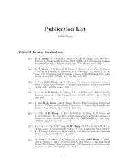 Publication List