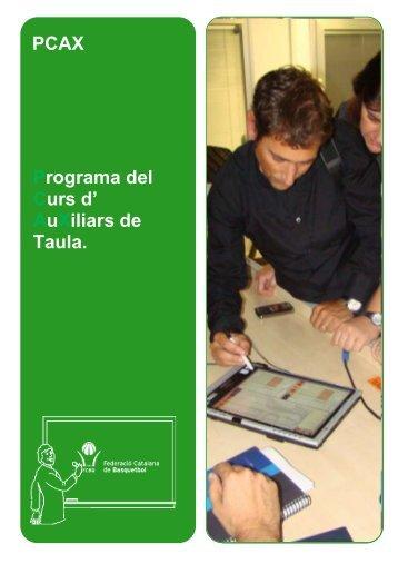 PCAX Programa del Curs d' AuXiliars de Taula. - Federació ...