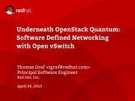 Underneath OpenStack Quantum: Software Defined Networking with Open vSwitch