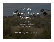 AGIS Technical Approach Overview - UCLA