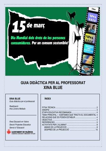 Guia didàctica XINA BLUE - Ajuntament de València