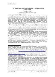 As relações entre a Literatura e a História: a novela de ... - eHumanista