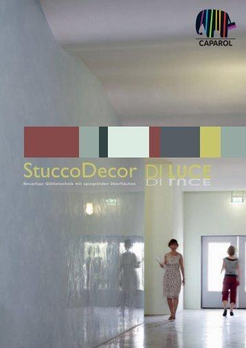StuccoDecor DI LUCE Farbtonfolder - Caparol
