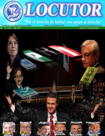 No. 19 Junio - Julio 2012 Edicion 70 00 Ejemplares Presidenta: Loc ...