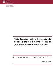 La gestió dels residus i el canvi climàtic - Diputació de Barcelona