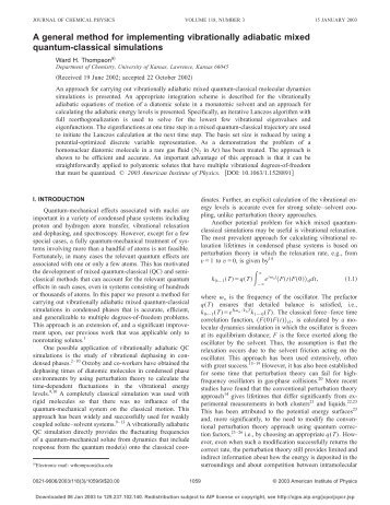 A general method for implementing vibrationally adiabatic mixed ...
