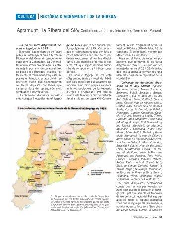 CULTURA HISTÒRIA D'AGRAMUNT I DE LA RIBERA - Revista Sió