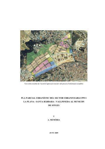 pla parcial urbanístic del sector urbanitzable ppu1 la plana
