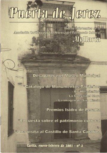 Nº 3. Enero-Febrero de 2001. - Mellaria