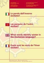 Le parole dell'inverno occitano? - Provincia di Torino