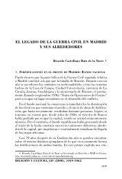El legado de la guerra civil en Madrid y sus alrededores - Revista ...