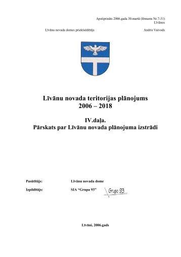 Pārskats par teritorijas plānojuma izstrādi - Grupa93