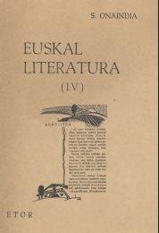 Euskal Literatura IV