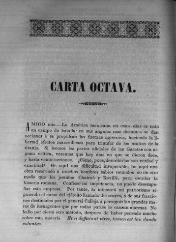 Carta Octava - Bicentenario