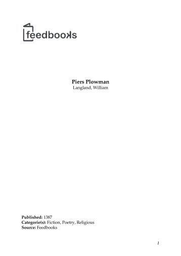 Piers Plowman - Maybe You Like It