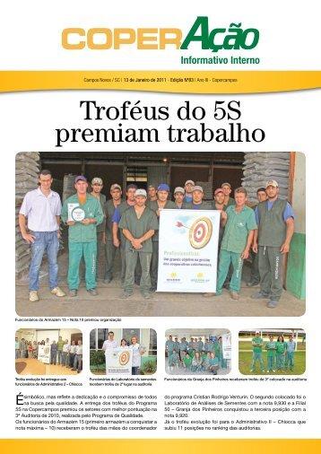 Troféus do 5S premiam trabalho - Copercampos