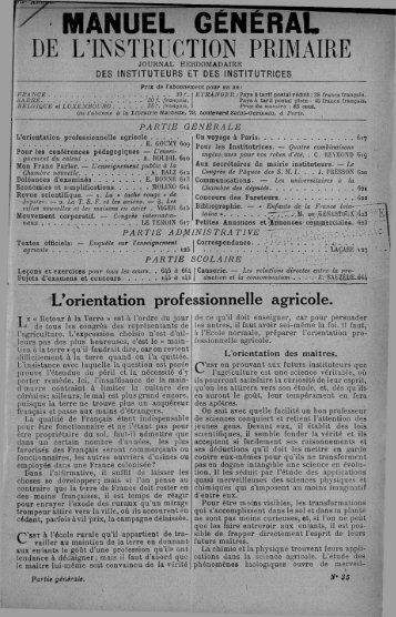 MANUEL GÉNÉRAL - INRP
