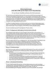 Sicherheitskonzept nach ISO 27001 auf der Basis von It-Grundschutz