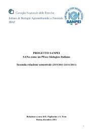 progetto sanpei - Sistema d'informazione nazionale sull'agricoltura ...