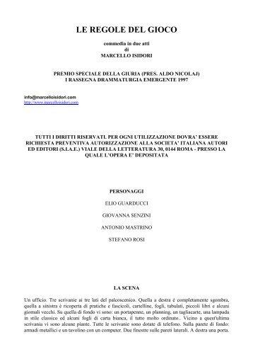LE REGOLE DEL GIOCO - Isidori, Marcello