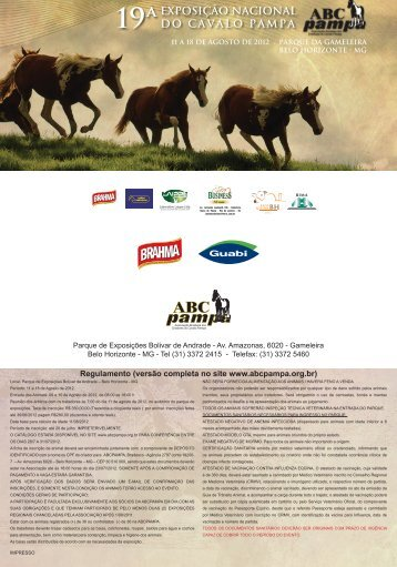 exposição nacional do cavalo pampa 19ª - ABCPampa