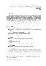 Rotinas e descaminhos de diversidade da morfologia do Português