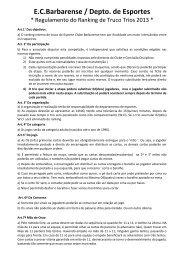 Regulamento Ranking Trios - Esporte Clube Barbarense