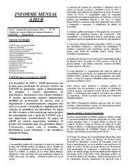 INFORME MENSAL A.HJ.B - Arquivo Histórico Judaico Brasileiro