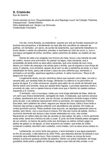 São Cristóvão - Editora Letras & Letras