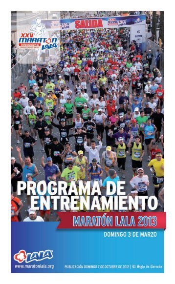 Page 1 DOMINGO 3 DE MARZO www.maratonlala.org Page 2 ...