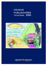 Osasun publikoaren txostena 2000 ( pdf , 661 KB ) - Osakidetza