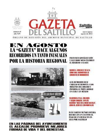 gazeta agosto 2012.pmd - Archivo Municipal de Saltillo