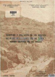 Inventario y evaluación de los recursos naturales de la cuenca del ...