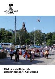 Råd och riktlinjer för uteserveringar i Askersund - Askersunds kommun