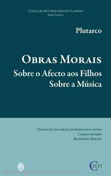 Obras Morais - Universidade de Coimbra