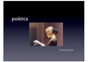 poética - Carlos João Correia