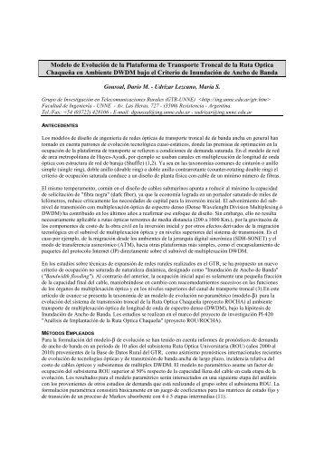 Modelo de Evolución de la Plataforma de Transporte Troncal de la ...