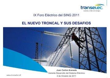 EL NUEVO TRONCAL Y SUS DESAFIOS Juan Carlos ... - Foro Sing