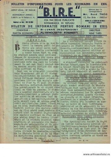 BIRE NR. 205 - Arhiva exilului românesc